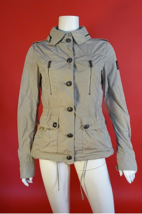 Refrigue giacca trench donna tessuto nylon tg L beige