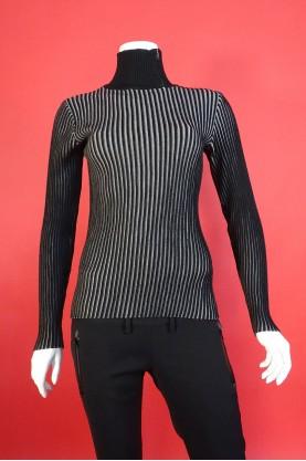 Armani Jeans maglia donna lana taglia L collo alto pullover leggero sottile