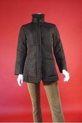 Moncler giacca donna taglia 2 M piumino marrone giaccone impermiabile giubbino
