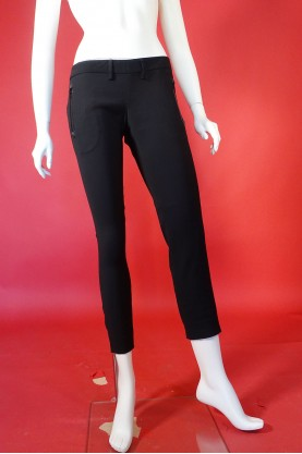 Dsquared Pantalone Donna Misto Lana Taglia 44 Nero Viscosa Aderente Slim