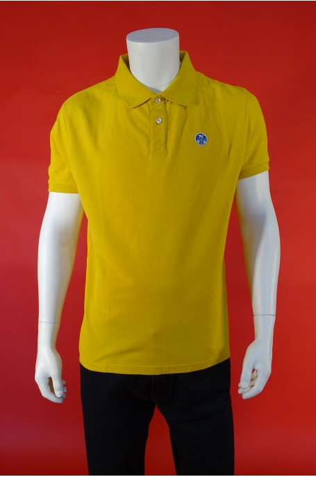 North Sails maglia cotone taglia xl refular giallo polo manica corta
