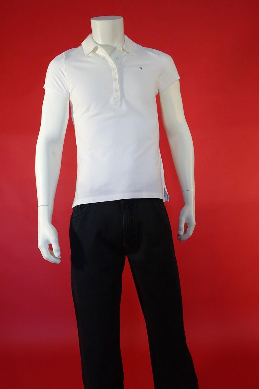 Tommy Hilfiger maglia cotone taglia m bianco polo mezza manica pari al nuovo
