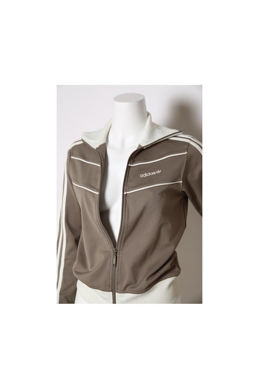 ADIDAS vintage maglia donna con zip tg 40 beige jacket woman Original gym Tute e abbigliamento sportivo Adidas