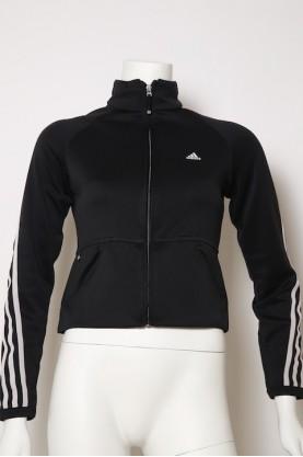 ADIDAS vintage maglia donna con zip tg 44 black jacket giacca