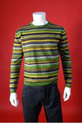 Etro maglia uomo lana taglia xxl fantasia righe multicolore girocollo pullover