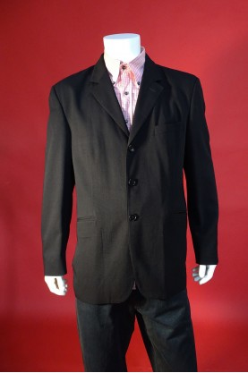 Moschino giacca uomo  taglia 50 colore nero jacket classic 3 bottoni
