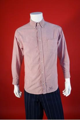 Avirex Camicia Uomo Tessuto Cotone Taglia M Regular Colore Rosa Con Taschino