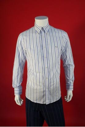 Harmont & Blaine camicia uomo bianca cotone taglia L righe bianco blu