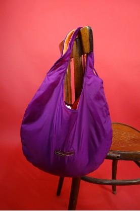 Sportmax borsa donna impermeabile colore lilla e arancione