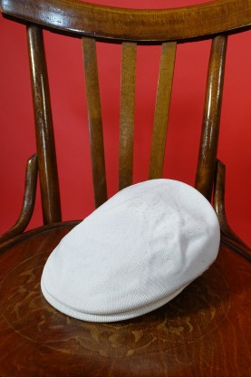 Kangol cappello berretto donna estivo colore bianco tessuto cotone misura 46 small