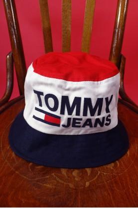 Tommy jeans cappello donna cotone taglia 60 secchiello colore rosso bianco e blu