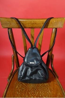 Maestro borsa zaino vintage donna tessuto in pelle colore nero
