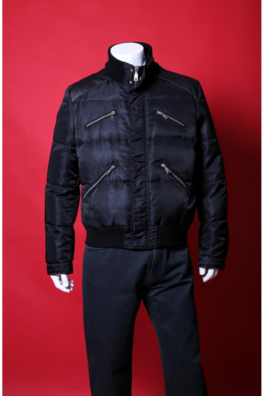 John Richmond giacca piumino uomo nylon taglia 54 colore nero con zip