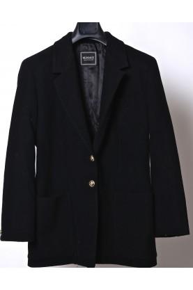 VERSACE giacca donna nero tg XL size lana 100% originale bottone oro