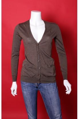 Ralph Lauren maglia donna tessuto lana taglia M colore marrone