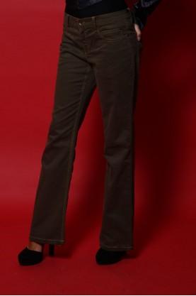 Moschino Pantalone Donna Cotone Taglia 44 Regular fit Jeans Gamba Larga Verde