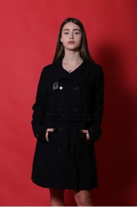 Murphy & Nye giacca donna lana taglia 44 cappotto blu vintage blazer navy