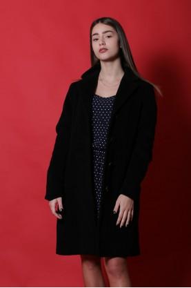 Marella giacca donna lana taglia 42 cappotto nero vintage bottoni