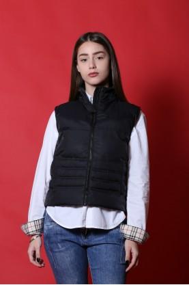 Gas Giacca donna Nylon taglia S smanicato piumino nero jacket