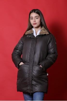 Champion Giacca donna Nylon taglia S marrone jacket piumino lungo