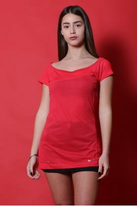 Nike maglia donna cotone taglia M polo rosa manica corta