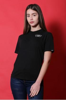 Vans maglia donna cotone taglia M shirt nero manica corta