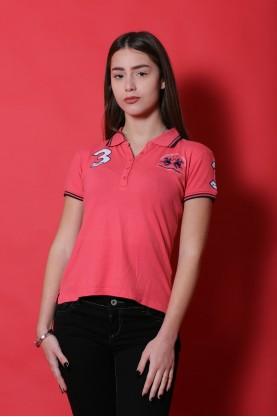La Martina maglia donna cotone taglia XS  shirt polo rosa scuro manica corta