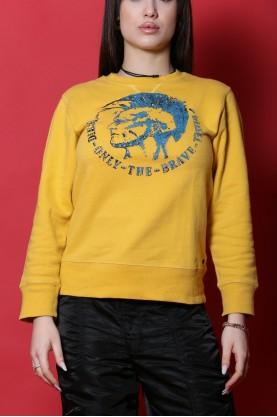Diesel maglia donna cotone taglia M gialla felpa stampa