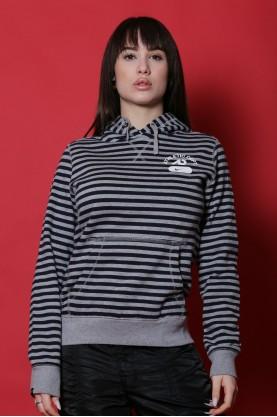 Nike maglia donna cotone taglia S felpa grigio cappuccio manica lunga